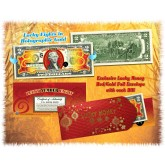 Chinese LUCKY NUMBER EIGHT # 8 Gold Hologram Legal Tender U.S. $2 Bill Colorized LUCKY MONEY