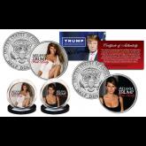 MELANIA TRUMP Republican Presidential First Lady 2016 Official JFK Half Dollar U.S. Legal Tender 2-Coin Set