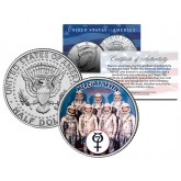 MERCURY SEVEN ASTRONAUTS Colorized JFK Half Dollar U.S. Coin Space NASA Original 7