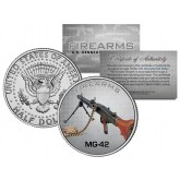 MG-42 Gun Firearm JFK Kennedy Half Dollar US Colorized Coin