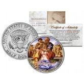 MICHELANGELO - Doni Tondo - SISTINE CHAPEL - Colorized JFK Half Dollar U.S. Coin