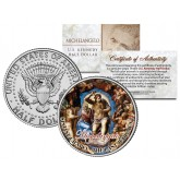 MICHELANGELO - The Last Judgement - SISTINE CHAPEL - Colorized JFK Half Dollar U.S. Coin