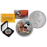 2017 New Zealand Mint Niue 1 oz Pure Silver Colorized Mickey Steamboat Willie BU Coin