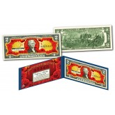 Asian Themed HAPPY MOTHER'S DAY *Lucky Money* Genuine Legal Tender U.S $2 Bill with Premium Display