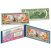 HAPPY MOTHER'S DAY Keepsake Gift Colorized $2 Bill U.S. Genuine Legal Tender with Folio