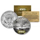 World War II - ATOMIC BOMBING OF NAGASAKI - JFK Kennedy Half Dollar U.S. Coin