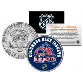 COLUMBUS BLUE JACKETS NHL Hockey JFK Kennedy Half Dollar U.S. Coin - Officially Licensed