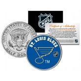 ST. LOUIS BLUES NHL Hockey JFK Kennedy Half Dollar U.S. Coin - Officially Licensed