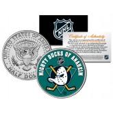 ANAHEIM DUCKS NHL Hockey JFK Kennedy Half Dollar U.S. Coin - Officially Licensed