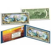 NIAGARA FALLS - Daytime View - COLORIZED Legal Tender $2 US Bill New York & Canada