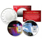 NIAGARA FALLS - Daytime & Nightime - Set of 2 Royal Canadian Mint Medallion Coin