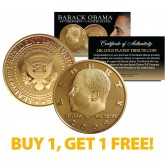 BARACK OBAMA 2009 Tribute Coin 24K Gold Plated - BUY 1 AND GET 1 FREE - bogo