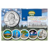 2013 America The Beautiful COLORIZED Quarters U.S. Parks 5-Coin Set with Capsules