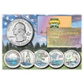2013 America The Beautiful HOLOGRAM Quarters U.S. Parks 5-Coin Set with Capsules