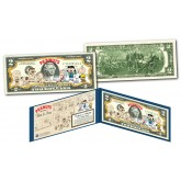 PEANUTS Charlie Brown Cartoon Strip THEN & NOW Official Legal Tender $2 US Bill