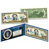JOHN QUINCY ADAMS * 6th U.S. President * Colorized Presidential $2 Bill U.S. Genuine Legal Tender