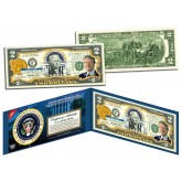 JIMMY CARTER * 39th U.S. President * Colorized Presidential $2 Bill U.S. Genuine Legal Tender