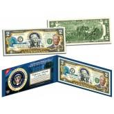DWIGHT D EISENHOWER * 34th U.S. President * Colorized Presidential $2 Bill U.S. Genuine Legal Tender