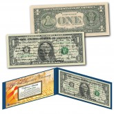ALL 45 U.S. PRESIDENT SIGNATURES Genuine Legal Tender US $1 Bill - World's First - NEW