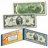 ALL 45 U.S. PRESIDENT SIGNATURES Genuine Legal Tender US $2 Bill - World's First - NEW