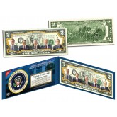 PRESIDENTS 1969-1993 Colorized $2 Bill U.S. Legal Tender - NIXON REAGAN BUSH FORD CARTER