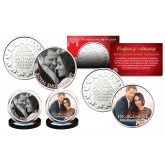PRINCE HARRY & MEGHAN MARKLE Official Royal Engagement Photos Set of 2 Royal Canadian Mint Medallion Coins