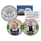 PRINCE GEORGE - 2014 CHRISTMAS - Colorized JFK Kennedy Half Dollar U.S. 2-Coin Set