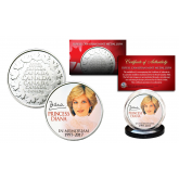 PRINCESS DIANA 1997-2017 20th ANNIVERSARY Royal Canadian Mint Medallion Portrait Coin
