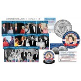 QUEEN ELIZABETH II 11-Card Premium Card Set with The Coronation of Queen Elizabeth II 65th Anniversary JFK Kennedy Half Dollar Coin