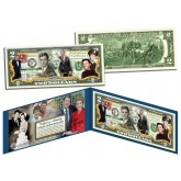 RONALD REAGAN - 100th Birthday - Life & Times - Colorized US $2 Bill Legal Tender