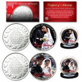 PRINCE HARRY & MEGHAN MARKLE Official Portraits Royal Wedding May 19, 2018 Set of 2 Royal Canadian Mint Medallion Coins