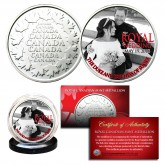 Prince Harry & Markle Official Palace Royal Wedding Photo B/W Royal Canadian Mint Medallion Coin