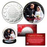PRINCE HARRY & MEGHAN MARKLE Official Look of Love Portrait Royal Wedding Royal Canadian Mint Medallion Coin
