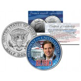 MARCO RUBIO FOR PRESIDENT 2016 Campaign Colorized JFK Kennedy Half Dollar U.S. Coin