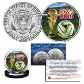2018 FIFA RUSSIA WORLD CUP Soccer Football JFK Half Dollar US Coin - RARE TEST ISSUE