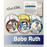 BABE RUTH 2005 American Silver Eagle Dollar 1 oz U.S Colorized Coin Yankees