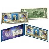 SCORPIO - Horoscope Zodiac - Genuine Legal Tender Colorized U.S. $2 Bill