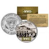 World War II - M4 SHERMAN TANK - JFK Kennedy Half Dollar US Coin