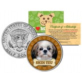 SHIH TZU Dog JFK Kennedy Half Dollar U.S. Colorized Coin