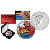2017 1 oz Pure Silver Tuvalu SPIDERMAN BU Colorized NEW YORK Limited Editon of 500 Coin