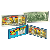 HAPPY MOTHER'S DAY - #1 MOM - SUPER MOM - Genuine Legal Tender U.S. $2 Bill with Premium Display Folio & Certificate of Authenticity
