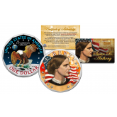 SUSAN B. ANTHONY Genuine U.S. Dollar Coin COLORIZED 2-sided with Capsule and COA