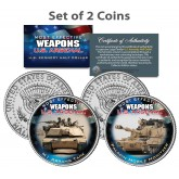 U.S. WEAPONS ARSENAL - Tanks - JFK Kennedy Half Dollars US 2-Coin Set
