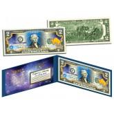 TAURUS - Horoscope Zodiac - Genuine Legal Tender Colorized U.S. $2 Bill