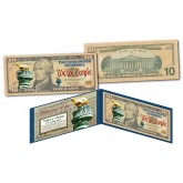 MILLENNIAL ELITE SERIES Genuine $10 Bill High-Def Colorized SYMBOLS OF FREEDOM