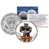 SPACEMAN BALLOON 1954 Macy's THANKSGIVING DAY PARADE - Colorized 2014 JFK Kennedy Half Dollar U.S. Coin