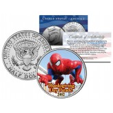 SPIDER-MAN BALLOON 2002 Macy's THANKSGIVING DAY PARADE - Colorized 2014 JFK Kennedy Half Dollar U.S. Coin