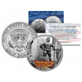 SUPERMAN BALLOON 1939 Macy's THANKSGIVING DAY PARADE - Colorized 2014 JFK Kennedy Half Dollar U.S. Coin
