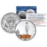 UNCLE SAM BALLOON 1938 Macy's THANKSGIVING DAY PARADE - Colorized 2014 JFK Kennedy Half Dollar U.S. Coin
