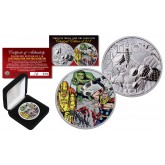 2018 1 oz Pure Silver Tuvalu Marvel Comics THOR Coin Limited & Numbered of 218 - AVENGER HULK